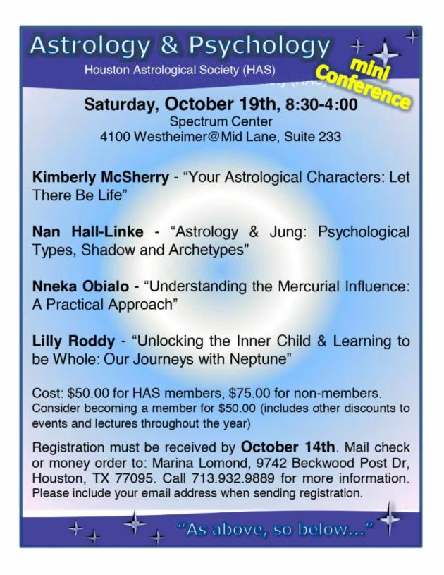 #Astrology Forecast - Astrology Mini Conference in Houston